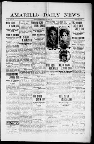 Primary view of object titled 'Amarillo Daily News (Amarillo, Tex.), Vol. 3, No. 75, Ed. 1 Tuesday, January 30, 1912'.
