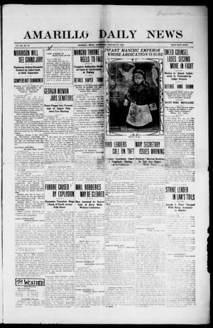 Primary view of object titled 'Amarillo Daily News (Amarillo, Tex.), Vol. 3, No. 76, Ed. 1 Wednesday, January 31, 1912'.
