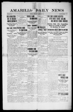 Primary view of object titled 'Amarillo Daily News (Amarillo, Tex.), Vol. 3, No. 78, Ed. 1 Friday, February 2, 1912'.