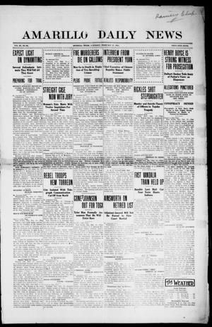 Primary view of object titled 'Amarillo Daily News (Amarillo, Tex.), Vol. 3, No. 81, Ed. 1 Saturday, February 17, 1912'.