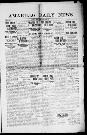 Primary view of object titled 'Amarillo Daily News (Amarillo, Tex.), Vol. 3, No. 91, Ed. 1 Sunday, February 18, 1912'.