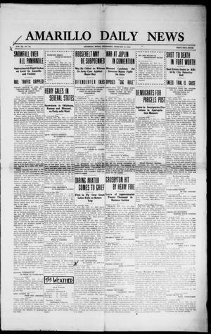 Primary view of object titled 'Amarillo Daily News (Amarillo, Tex.), Vol. 3, No. 94, Ed. 1 Wednesday, February 21, 1912'.