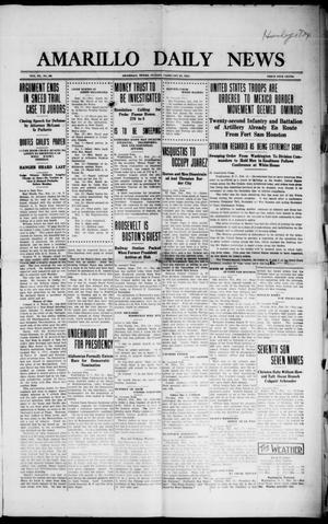Primary view of object titled 'Amarillo Daily News (Amarillo, Tex.), Vol. 3, No. 98, Ed. 1 Sunday, February 25, 1912'.
