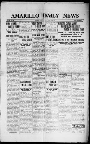 Primary view of object titled 'Amarillo Daily News (Amarillo, Tex.), Vol. 3, No. 100, Ed. 1 Wednesday, February 28, 1912'.