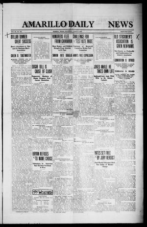 Primary view of object titled 'Amarillo Daily News (Amarillo, Tex.), Vol. 3, No. 106, Ed. 1 Wednesday, March 6, 1912'.