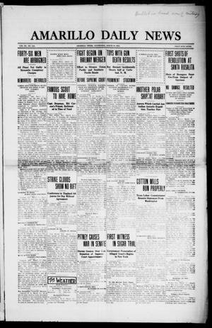 Primary view of object titled 'Amarillo Daily News (Amarillo, Tex.), Vol. 3, No. 112, Ed. 1 Wednesday, March 13, 1912'.