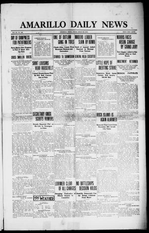 Primary view of object titled 'Amarillo Daily News (Amarillo, Tex.), Vol. 3, No. 126, Ed. 1 Friday, March 29, 1912'.