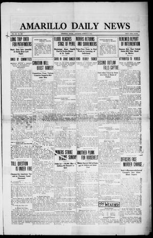 Primary view of object titled 'Amarillo Daily News (Amarillo, Tex.), Vol. 3, No. 127, Ed. 1 Saturday, March 30, 1912'.