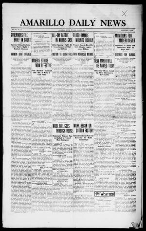 Primary view of object titled 'Amarillo Daily News (Amarillo, Tex.), Vol. 3, No. 129, Ed. 1 Tuesday, April 2, 1912'.