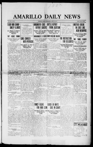 Primary view of object titled 'Amarillo Daily News (Amarillo, Tex.), Vol. 3, No. 136, Ed. 1 Wednesday, April 10, 1912'.