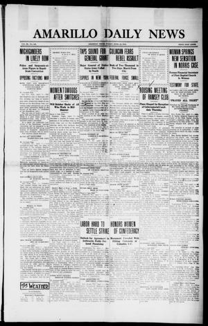 Primary view of object titled 'Amarillo Daily News (Amarillo, Tex.), Vol. 3, No. 138, Ed. 1 Friday, April 12, 1912'.