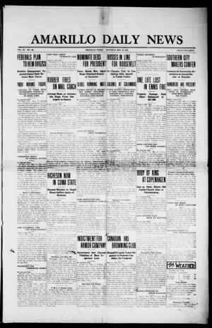 Primary view of object titled 'Amarillo Daily News (Amarillo, Tex.), Vol. 3, No. 169, Ed. 1 Saturday, May 18, 1912'.