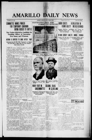Primary view of object titled 'Amarillo Daily News (Amarillo, Tex.), Vol. 3, No. 201, Ed. 1 Tuesday, June 25, 1912'.