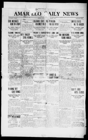 Primary view of object titled 'Amarillo Daily News (Amarillo, Tex.), Vol. 3, No. 233, Ed. 1 Thursday, August 1, 1912'.