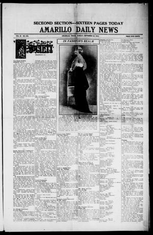 Primary view of object titled 'Amarillo Daily News (Amarillo, Tex.), Vol. 3, No. 278, Ed. 1 Sunday, September 22, 1912'.