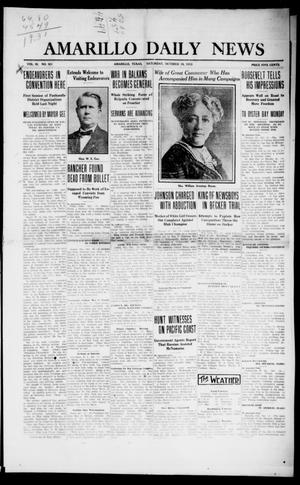 Primary view of object titled 'Amarillo Daily News (Amarillo, Tex.), Vol. 3, No. 301, Ed. 1 Saturday, October 19, 1912'.