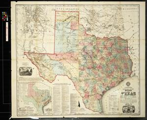 New Map of Texas Prepared and Published for the Bureau of Immigration of the State of Texas