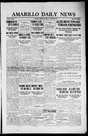 Primary view of object titled 'Amarillo Daily News (Amarillo, Tex.), Vol. 3, No. 304, Ed. 1 Wednesday, October 23, 1912'.