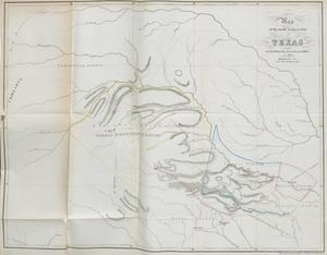 Primary view of object titled 'Map of the Northwestern Part of Texas Received from the General Land Office in 1845'.