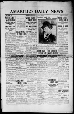 Primary view of object titled 'Amarillo Daily News (Amarillo, Tex.), Vol. 4, No. 19, Ed. 1 Sunday, November 24, 1912'.