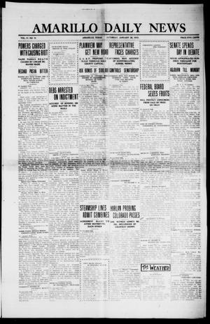 Primary view of object titled 'Amarillo Daily News (Amarillo, Tex.), Vol. 4, No. 72, Ed. 1 Saturday, January 25, 1913'.