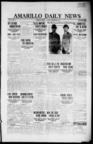 Primary view of object titled 'Amarillo Daily News (Amarillo, Tex.), Vol. 4, No. 73, Ed. 1 Sunday, January 26, 1913'.