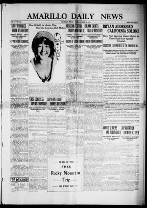 Primary view of object titled 'Amarillo Daily News (Amarillo, Tex.), Vol. 4, No. 152, Ed. 1 Monday, April 28, 1913'.