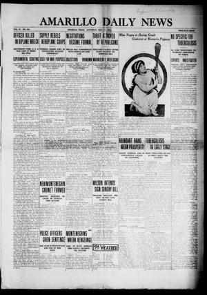 Primary view of object titled 'Amarillo Daily News (Amarillo, Tex.), Vol. 4, No. 162, Ed. 1 Saturday, May 10, 1913'.