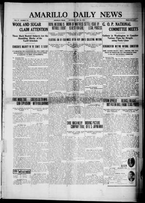 Primary view of object titled 'Amarillo Daily News (Amarillo, Tex.), Vol. 4, No. 174, Ed. 1 Saturday, May 24, 1913'.