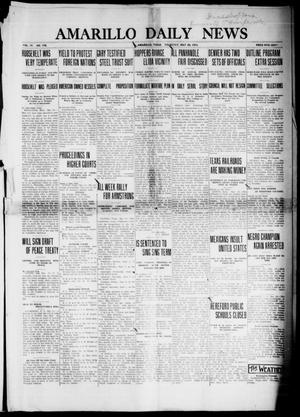 Primary view of object titled 'Amarillo Daily News (Amarillo, Tex.), Vol. 4, No. 178, Ed. 1 Thursday, May 29, 1913'.