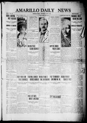 Primary view of object titled 'Amarillo Daily News (Amarillo, Tex.), Vol. 4, No. 183, Ed. 1 Wednesday, June 4, 1913'.