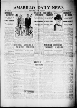 Primary view of object titled 'Amarillo Daily News (Amarillo, Tex.), Vol. 4, No. 187, Ed. 1 Tuesday, June 10, 1913'.