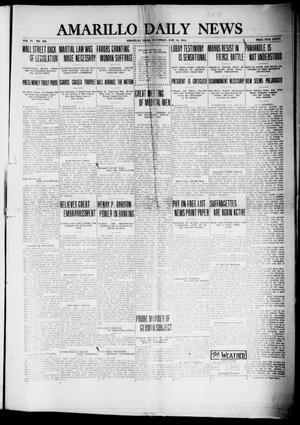 Primary view of object titled 'Amarillo Daily News (Amarillo, Tex.), Vol. 4, No. 192, Ed. 1 Saturday, June 14, 1913'.