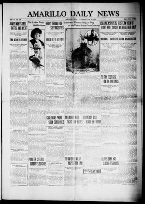 Primary view of object titled 'Amarillo Daily News (Amarillo, Tex.), Vol. 4, No. 195, Ed. 1 Wednesday, June 18, 1913'.