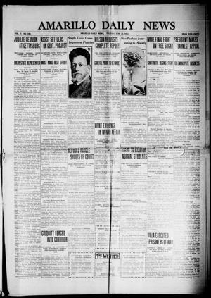 Primary view of object titled 'Amarillo Daily News (Amarillo, Tex.), Vol. 5, No. 199, Ed. 1 Tuesday, June 24, 1913'.