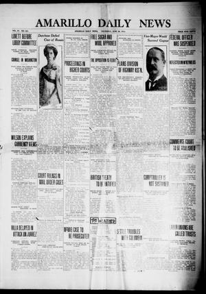 Primary view of object titled 'Amarillo Daily News (Amarillo, Tex.), Vol. 4, No. 201, Ed. 1 Thursday, June 26, 1913'.