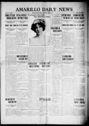 Primary view of object titled 'Amarillo Daily News (Amarillo, Tex.), Vol. 4, No. 203, Ed. 1 Saturday, June 28, 1913'.