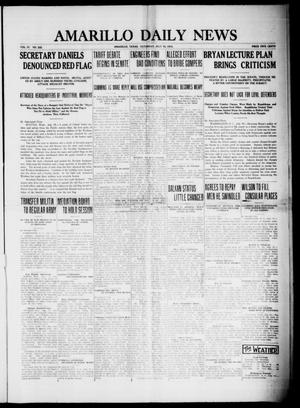 Primary view of object titled 'Amarillo Daily News (Amarillo, Tex.), Vol. 4, No. 222, Ed. 1 Saturday, July 19, 1913'.