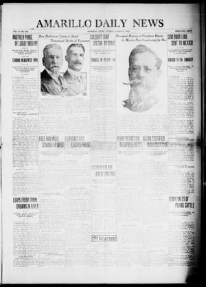 Primary view of object titled 'Amarillo Daily News (Amarillo, Tex.), Vol. 4, No. 236, Ed. 1 Tuesday, August 5, 1913'.