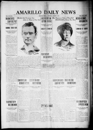 Primary view of object titled 'Amarillo Daily News (Amarillo, Tex.), Vol. 4, No. 238, Ed. 1 Thursday, August 7, 1913'.