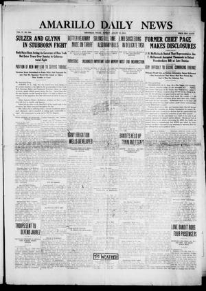 Primary view of object titled 'Amarillo Daily News (Amarillo, Tex.), Vol. 4, No. 244, Ed. 1 Sunday, August 17, 1913'.