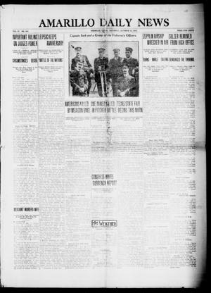 Primary view of object titled 'Amarillo Daily News (Amarillo, Tex.), Vol. 4, No. 300, Ed. 1 Saturday, October 18, 1913'.