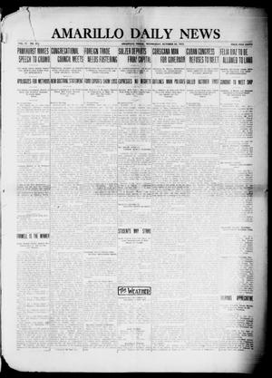 Primary view of object titled 'Amarillo Daily News (Amarillo, Tex.), Vol. 4, No. 303, Ed. 1 Wednesday, October 22, 1913'.