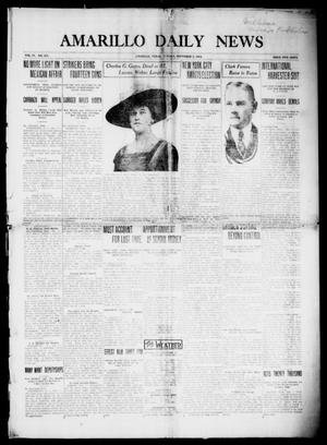 Primary view of object titled 'Amarillo Daily News (Amarillo, Tex.), Vol. 4, No. 313, Ed. 1 Sunday, November 2, 1913'.
