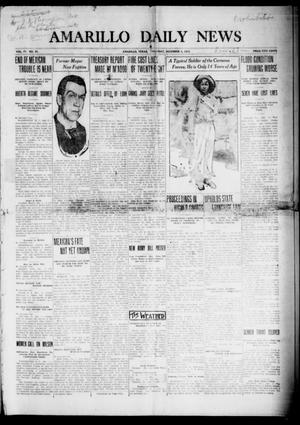 Primary view of object titled 'Amarillo Daily News (Amarillo, Tex.), Vol. 4, No. 27, Ed. 1 Thursday, December 4, 1913'.