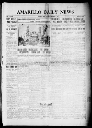 Primary view of object titled 'Amarillo Daily News (Amarillo, Tex.), Vol. 4, No. 29, Ed. 1 Saturday, December 6, 1913'.