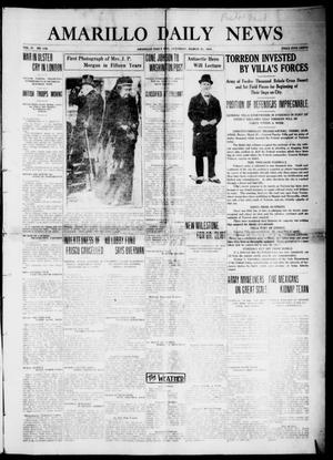 Primary view of object titled 'Amarillo Daily News (Amarillo, Tex.), Vol. 4, No. 119, Ed. 1 Saturday, March 21, 1914'.