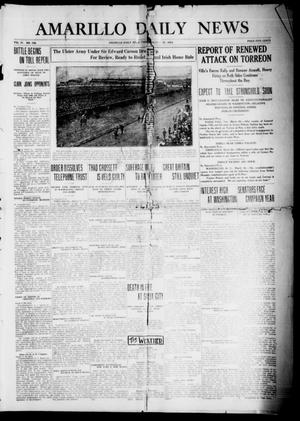 Primary view of object titled 'Amarillo Daily News (Amarillo, Tex.), Vol. 4, No. 129, Ed. 1 Friday, March 27, 1914'.