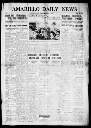 Primary view of object titled 'Amarillo Daily News (Amarillo, Tex.), Vol. 4, No. 220, Ed. 1 Friday, July 17, 1914'.