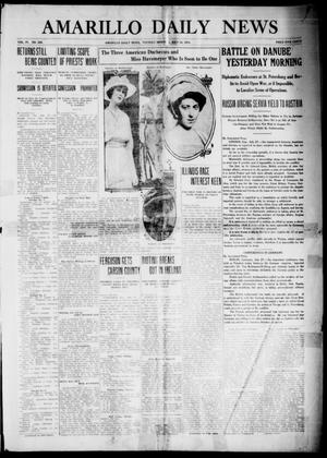 Primary view of object titled 'Amarillo Daily News (Amarillo, Tex.), Vol. 4, No. 229, Ed. 1 Tuesday, July 28, 1914'.